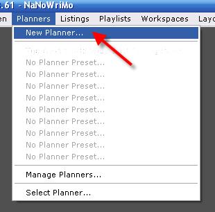 Create New Planner